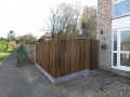 Featheredge fencing and custom-made gate