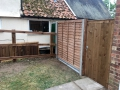 Post and rail, and fitted panel/gate