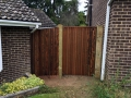 Gate and featheredge fencing