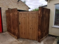 Feathedge fencing and gate