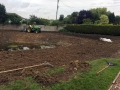 Pond clearing and levelling